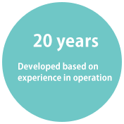Twenty years--Developed based on operation experience over many years